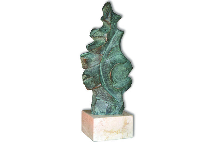 Escultura de Pedro Monje entregada en estos galardones.