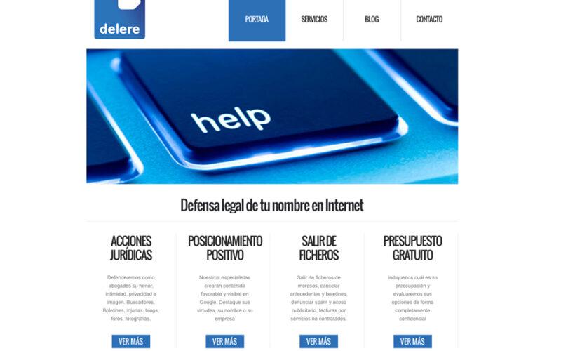 Portal de Delere.es.