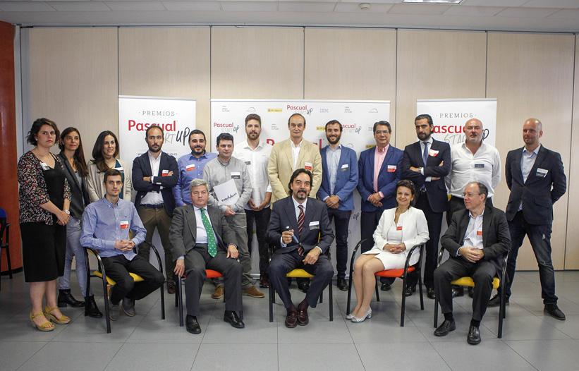Jurado y finalistas de los Premios Pascual Startup.