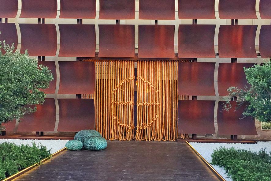 Entrada al Restaurante Aponiente, en un molino de mareas del siglo XIX en El Pue