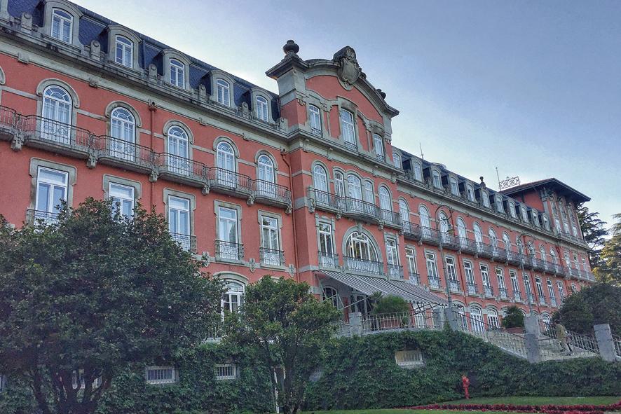 Fachada del Hotel Vidago Palace.