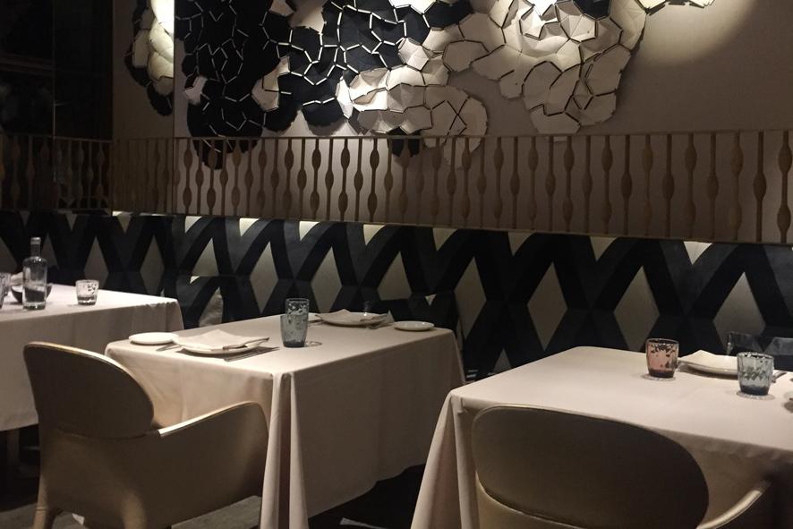 Atractivo diseño del comedor del Restaurante Mextizo.