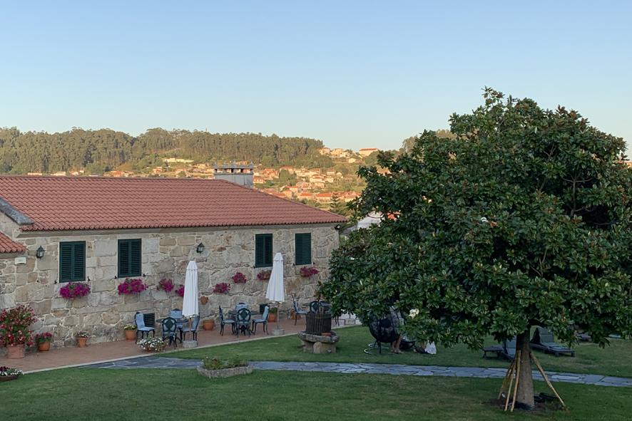 Bucólica ubicación de Casa do Sear, a escasos kilómetros de Sanxenxo.