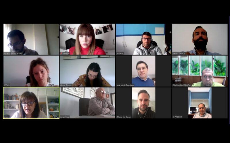Reunión virtual entre representantes de CEDE y de la Diputación de Valladolid.