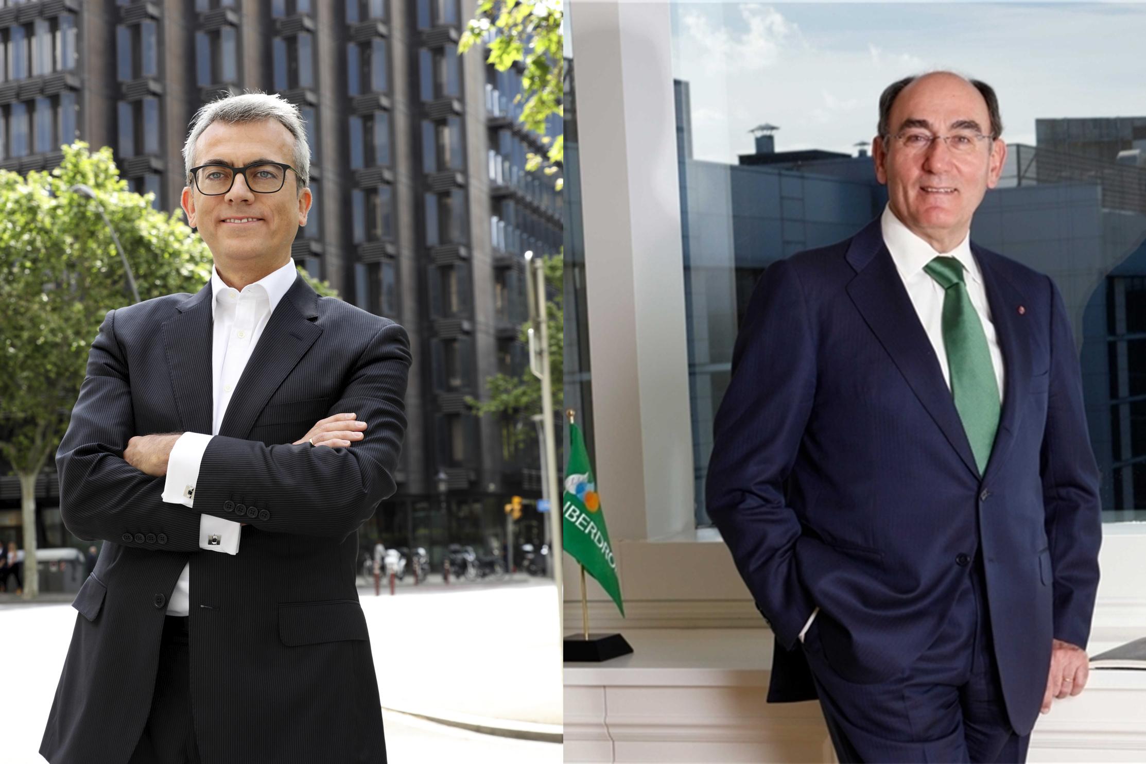 De izquierda a derecha, Jesús Ponce, presidente de Grupo Novartis España, e Igna