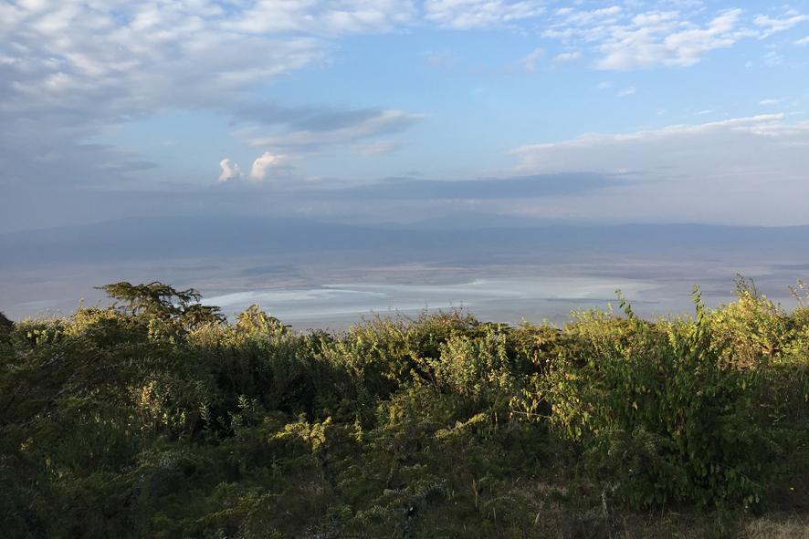 Vistas del cráter del Ngorongoro (Tanzania).