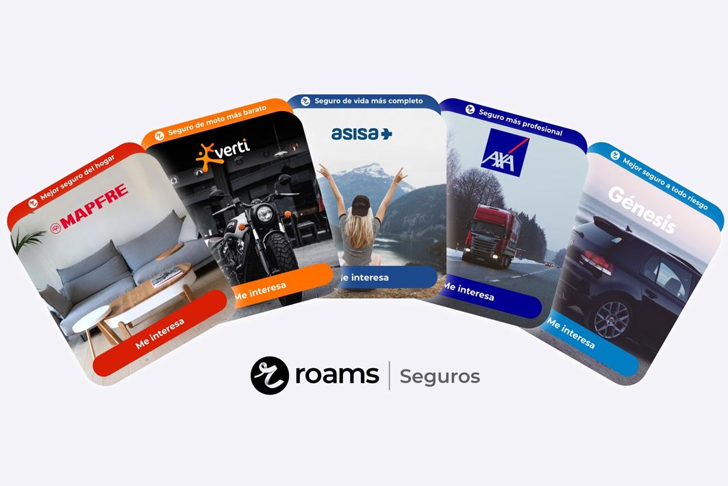 Roams incorpora la compartiva de seguros a su catálogo.