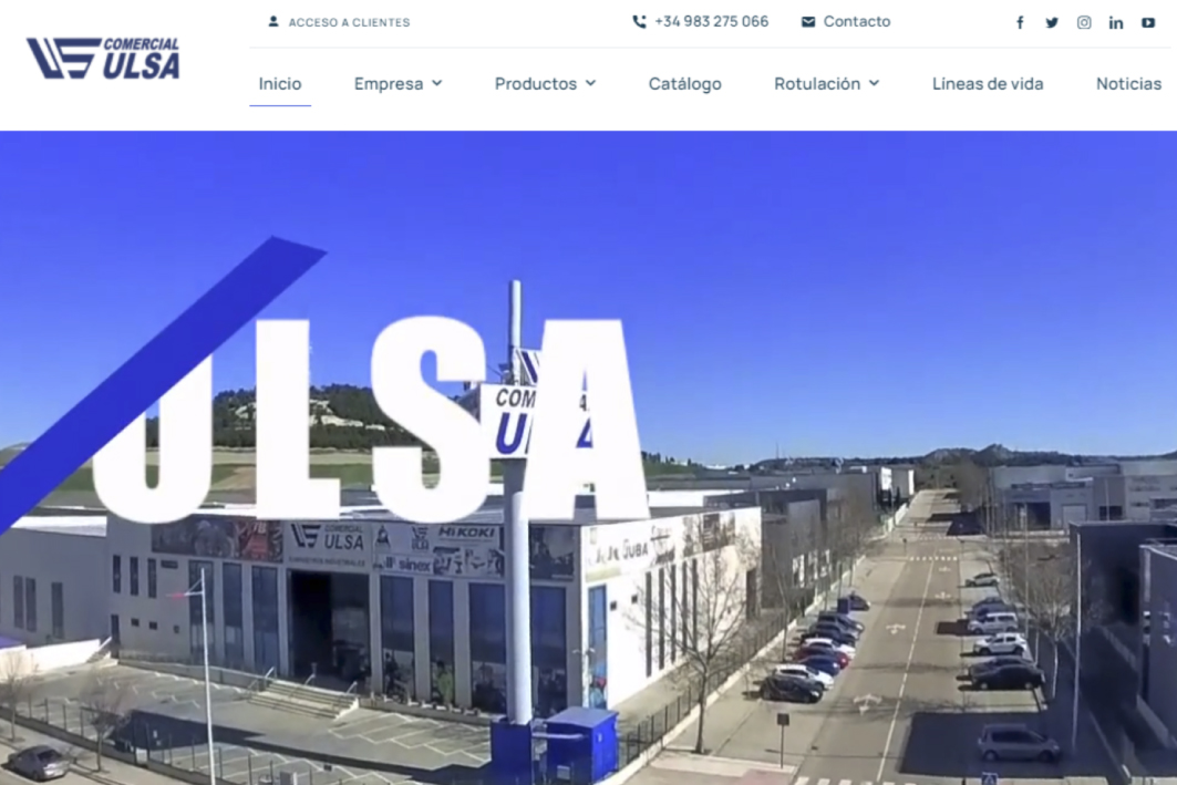 Comercial Ulsa, web, comercio electrónico, suministros industriales, empresa.