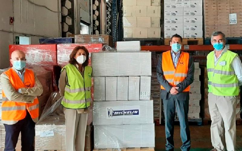 Banco de alimentos donación Michelin Vialider comida empresas