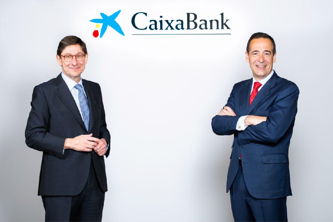 jose ignacio goirigolzarri, presidente de caixabank; y gonzalo gortazar, consejero delegado del banco.