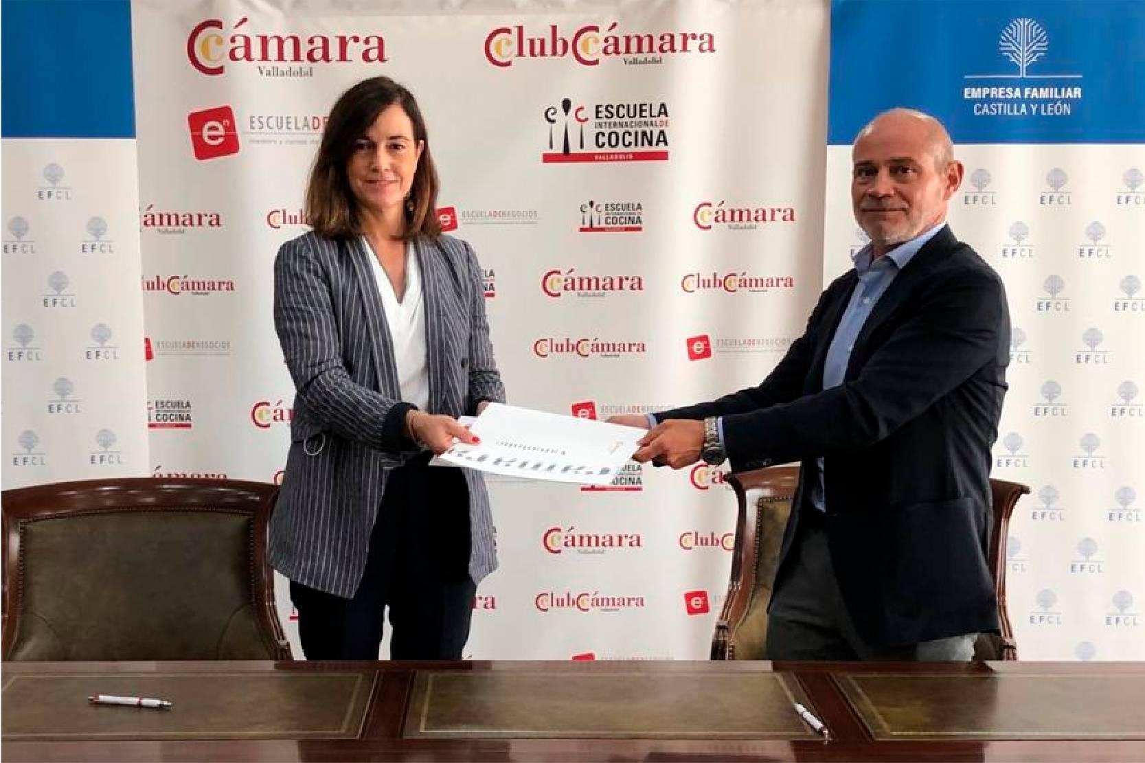 Rocío Hervella de EFCL y Victor Caramanzana de Cámara Valladolid