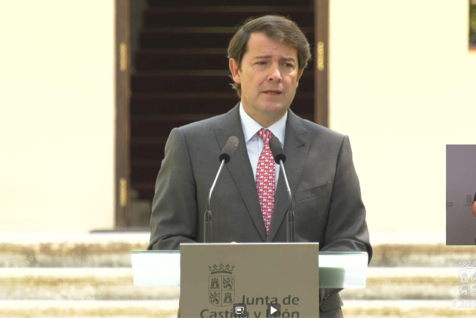 Alfonso Fernández Mañueco, presidente de Castilla y León