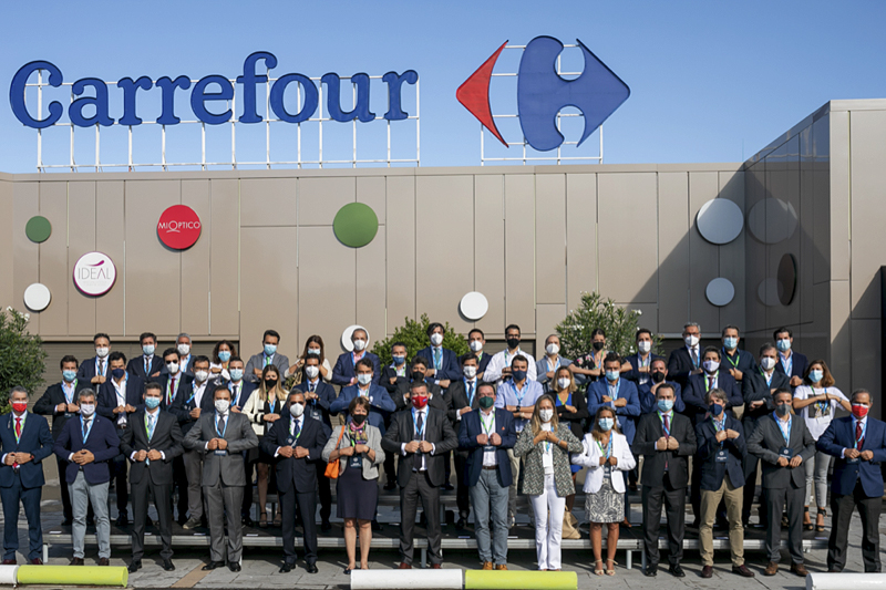 Firmantes del pacto de transición alimentaria promovida por Carrefour