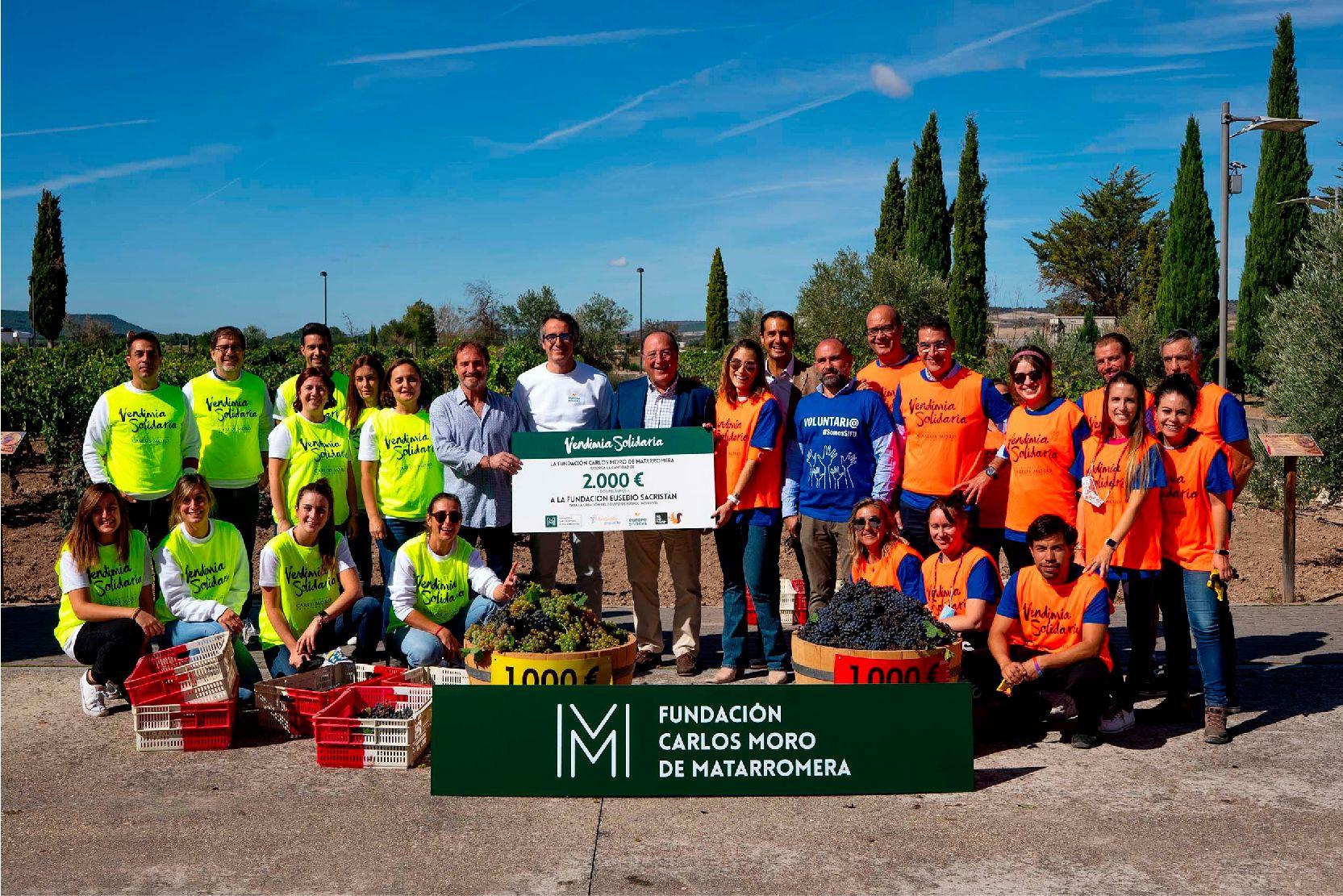 Vendimia Solidaria de la Fundación Carlos Moro