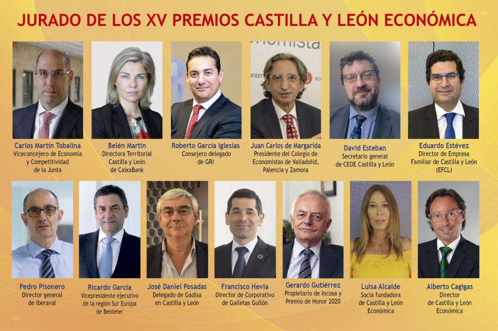 Miembros del jurado de los XV Premios Castilla y León Económica