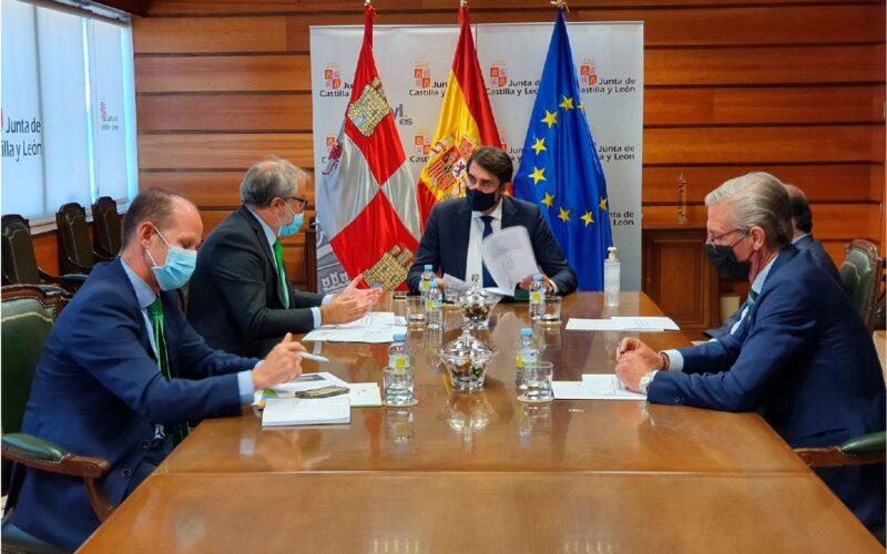 Reunión entre responsables de Iberdrola y el consejero de Fomento y Medio Ambiente