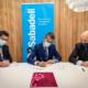 Firmantes del acuerdo entre Sabadell y Escuelas Católicas de CyL