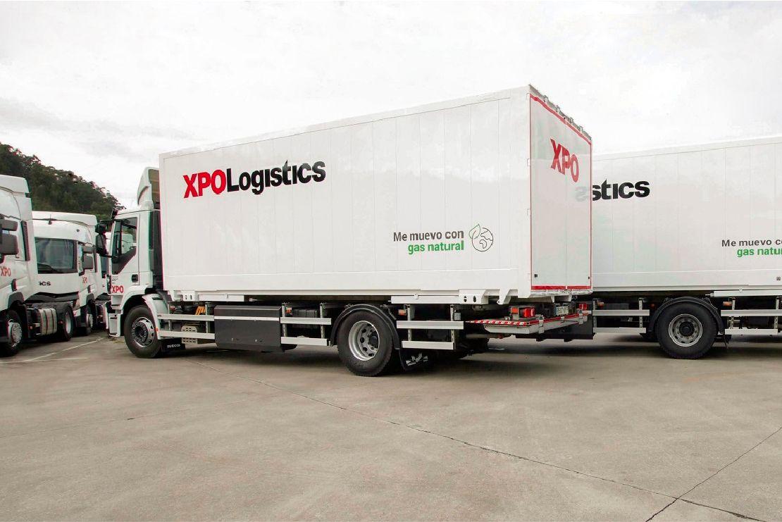 Camiones de XPO.